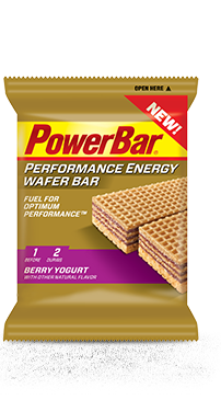 Wafer Bar Box Of 12 $23 When you're a serious athlete competing at the highest levels of exercise intensity and duration, fueling up right can make a huge impact on how you feel and perform. PowerBar Performance Energy Wafer Bars are formulated with PowerBar C2MAX dual source energy blend: a 2:1 glucose to fructose blend found to deliver 20–50% more energy to muscles than glucose alone. 2: Flavors Berry and Chocolate Peanut Butter