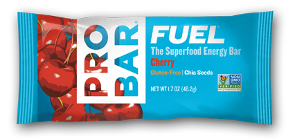 Cherry Box Of  12 $18 Cherry FUEL™ is like biting into a handful of dark, plump, late summer cherries. With fiber and fruit, this bar is a medley of flavor and nutrition.