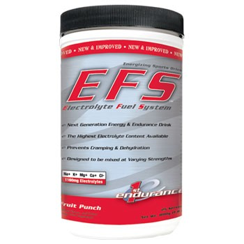 EFS Electrolyte Powder Prevents Cramping & Dehydration With the highest electrolyte content available, EFS drink mix provides everything you need to maximize endurance and performance during exercise. Endurance Drink Mix Prevents Cramping & Dehydration Contains Malic Acid Fruit Punch, Lemon Lime, Orange