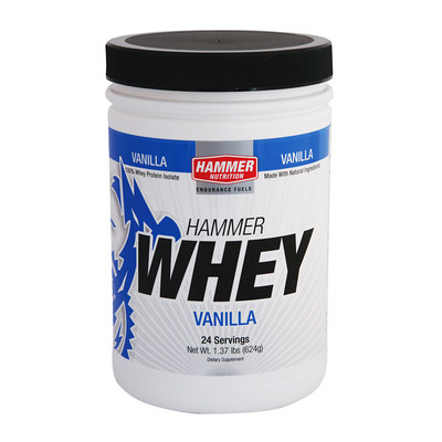 Whey Maintenance, repair, and growth of lean muscle mass are as important to your training as your energy source. That's why serious endurance athletes also need considerable amounts of protein, far above the normal adult RDA. Low dietary protein lengthens recovery time, causes muscle weakness, and suppresses the immune system. Prolonged protein deficiencies will cancel the beneficial effects of your workouts; instead, you will become susceptible to fatigue, lethargy, anemia, and possibly even more severe disorders. Athletes with over-training syndrome usually have protein deficiency. Hammer Whey fulfills your post-workout protein requirements, without any added sugars, fillers, artificial sweeteners, or other questionable nutrients