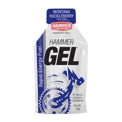 "Gel The staples of any energy drink, bar, or gel are carbohydrates. In this regard, Hammer Gel stands alone in today's glutted market of energy products. A look at the ingredient list on the label will tell you why: we use long-chain complex carbohydrates for smooth, consistent energy release. There's only a trace of sugar, so Hammer Gel doesn't set off wild insulin spikes causing ""sugar high"" and ""sugar crash."" You won't find our products saturated with cheap, ineffective, commercial-grade sugars, which can ruin health and performance. Hammer Gel is an easily digested, concentrated source of complex carbohydrates with four amino acids added to enhance performance and prolong energy levels during intense training and competition. Hammer Gel has a syrup-like consistency that mixes easily with water if so desired. You can drink it straight, dilute it, or use it to flavor other Hammer Nutrition fuels. Use it before, during, and after exercise. Vanilla, Apple-Cinnamon, Banana, Chocolate, Espresso, Montana Huckleberry, Nocciola, Orange, Peanut Butter, Peanut Butter-Chocolate, Raspberry, Tropical, Unflavored"