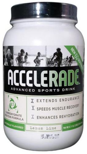 Accelerade protein ratio, which helps athletes perform better and recover faster. Accelerade still contains its patented ratio, but now includes both whey and soy protein which enhances the overall effectiveness of our protein-powered sports drink. With Accelerade:  you will have 29% more endurance, you will rehydrate 40% better., your muscles will recover 40% faster, you will lower your perceived exertion. Fruitpunch, Lemonade, Lemon-lime, Mountain-Berry, Orange.