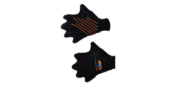 Webbed Swim Gloves    Price $30   Our Webbed Swim Glove have been improved with a longer cuff to limit water entry and increase warmth around the wrists. A great open water training tool, webbed fingers add increased resistance and make a great alternative to the traditional hand paddles for pool training. Form fitting neoprene helps insulate against the cold. Available in 2 sizes.