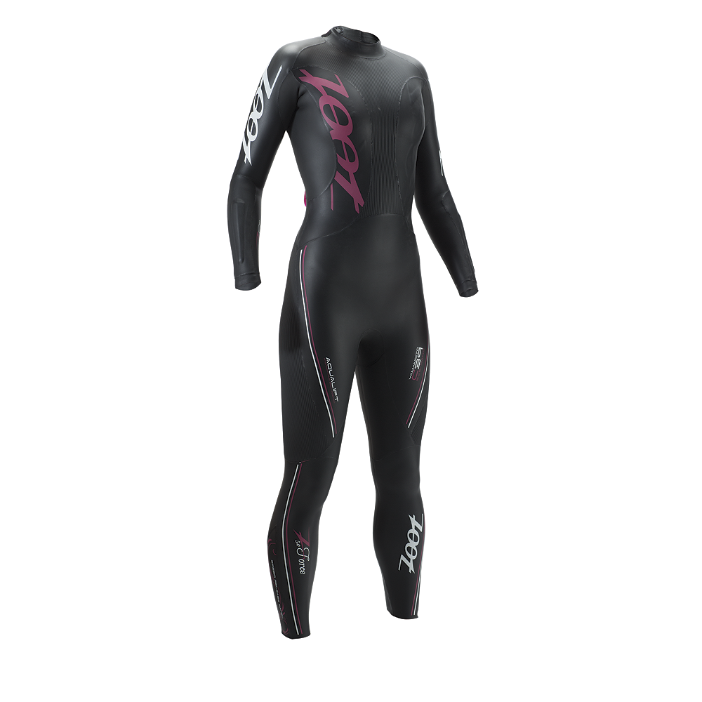 w-z-force-5-wetzoot Price $450 Zoot's design evolution in the Z Force 5.0 wetsuit delivers new advancements most didn't even know was possible. Coated with SCS Nano, the most hydrodynamic and durable wetsuit coating available for less drag and more speed. The CFD, Confluence Fluid Design, tested as the highest energy savings in comparison to catch panels (creates less resistance against the arm). Optimal Kick Design is Zoot's proprietary kick design, helps your legs stay in the natural body position to kick - save your legs for the bike and run. The Z Force 5.0 provides unmatched performance in a comfortable wetsuit.