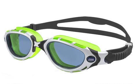 Predator Flex Reactor Price $70 Our original Reactor™ lenses take the guesswork out of which lens color to use. The Photo Chromatic lenses automatically adjust to the perfect shade based on the lighting conditions. The 180 degree vision is perfect for open water swimming and Fogbuster anti-fog keeps the lenses clear. The 4 Flexpoint ™ Technology Frame flexes in 4 key areas to easily seal to your face. Fitting is as simple as pulling the two straps to tighten and lifting the lever to loosen the fit.  Available in Frame size S/M and L/XL