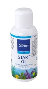 Startoil   Concentrated toning pre-competition oil to warm up massages. It quickly prepares to sports performance. Doesn't require a long massage.