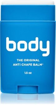 The original anti chafing,  anti blister balm™  One easy application of the vitamin enriched formula helps retain skin moisture with a dry, invisible barrier against chafing, irritation and raw skin caused by rubbing.  Never wet or greasy!   When To Apply  Before you put on clothes, on inner thighs, around (sports) bra, wherever skin is sensitive to rubbing  Effective and longlasting for daily use in demanding conditions. No petroleum, lanolin or mineral oils.  Rich in Vitamins A, B, E and F to help hydrate skin and retain moisture. Ideal for sensitive, dry, cracked skin  Apply directly from the stick. Never wet or greasy.  Made with allergen free, plant-derived ingredients. Vegan approved, never tested on animals. Child saf  Keeps pores clog free. Sweat escapes and lets skin breathe. Clothing, footwear and wetsuit safe.