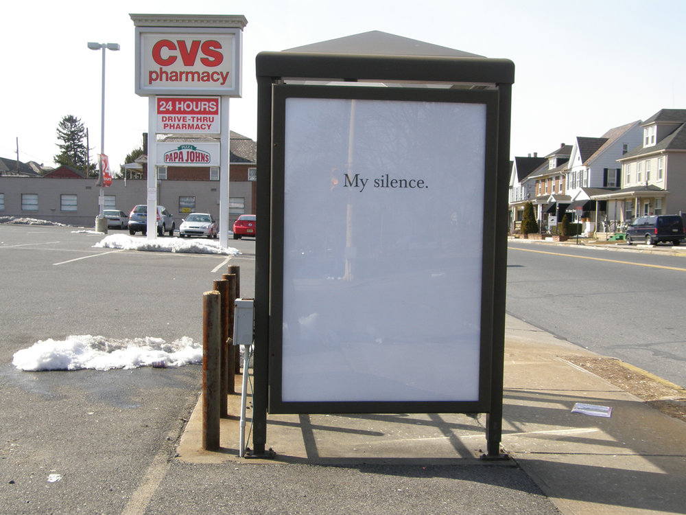 It Never Made Sense to Them, 1/11 Bus Shelters, Lehigh Valley, PA  2008