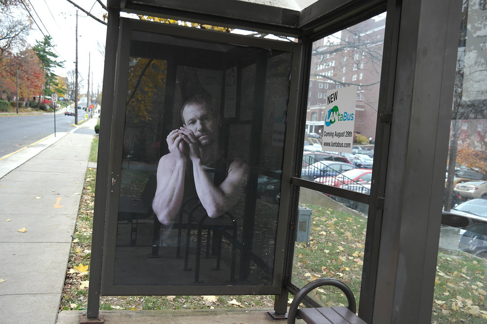 Falling From Grace, 1/11 Bus Shelters, Lehigh Valley, PA  2011