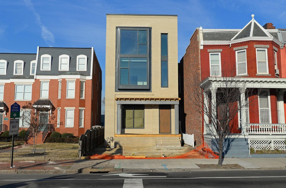 Photograph by Scott Elmquist One of Richmond's most historic neighborhoods, Jackson Ward, has watched a modern three-story townhouse rise on West Leigh Street.