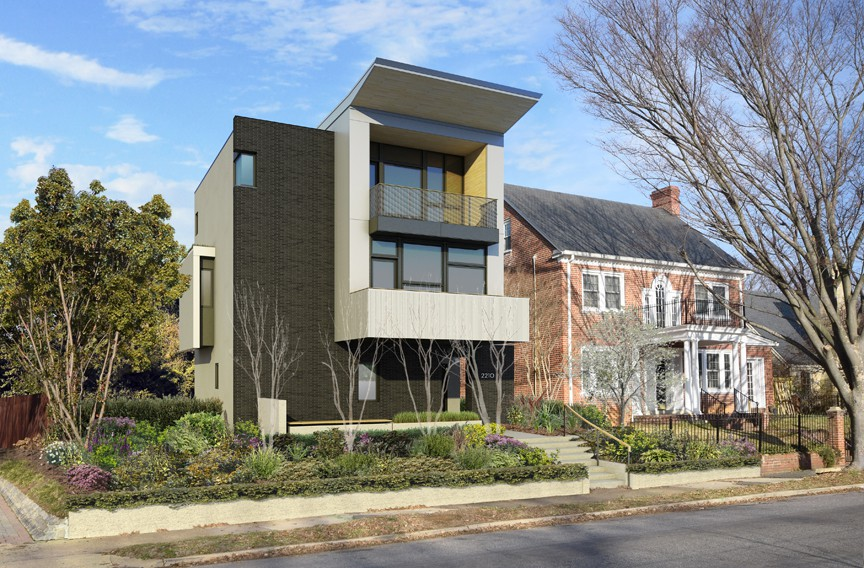 Modern Architecture Render mrt preview: modern architecture in traditional richmond — modern