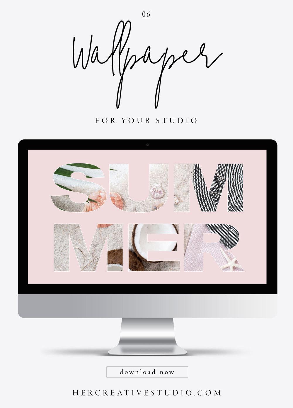 FREE Wallpaper download from her Creative Studio