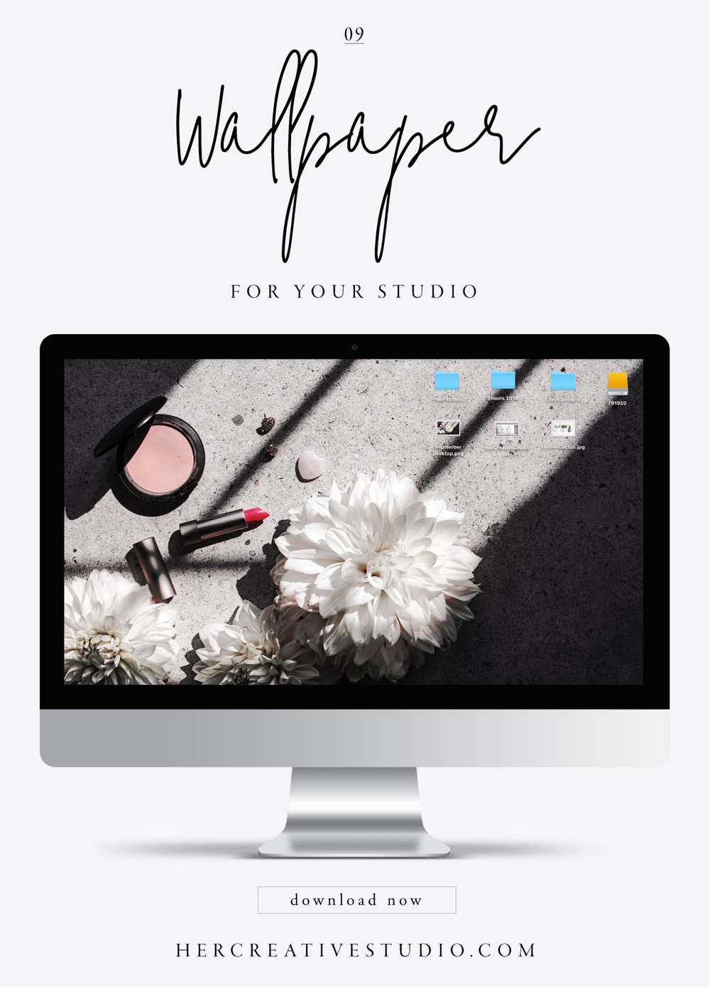 Free monthly desktop wallpaper from Her Creative Studio