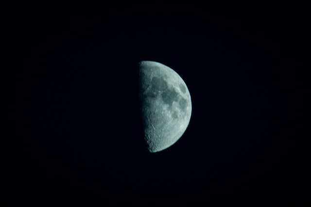 Half-moon, ISO 100, 240mm (cropped), 1/30 sec, 2012