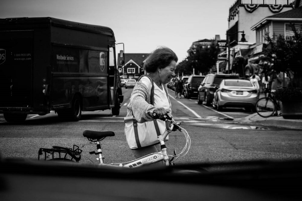 Lady With Bike