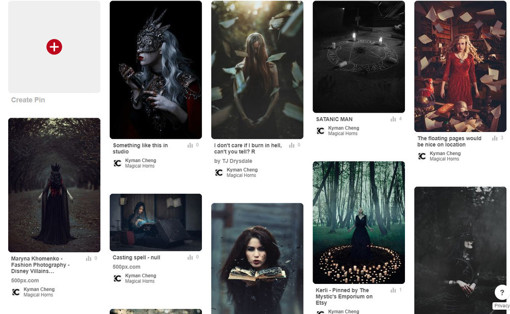 Part of the moodboard, from Pinterest