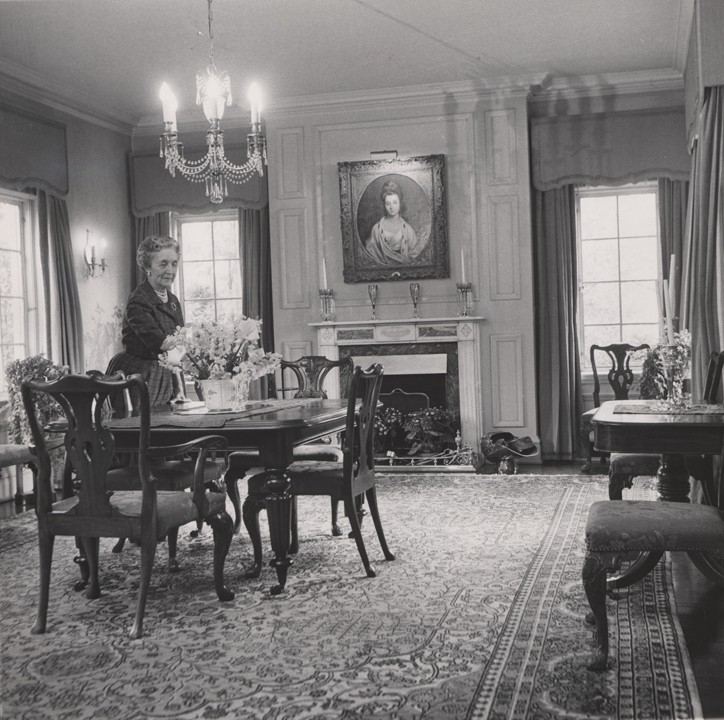 Mrs. Clowes in her dining room