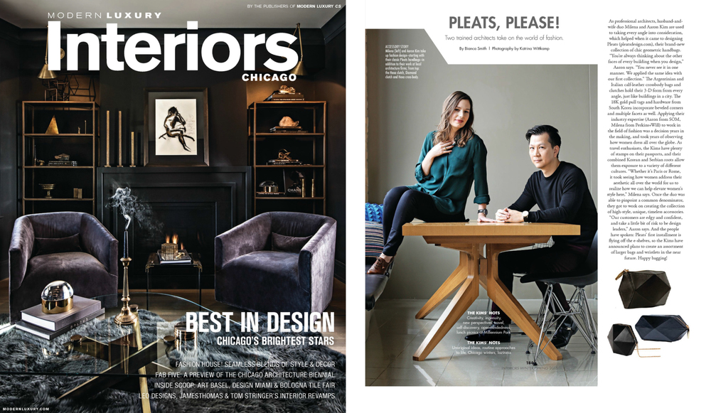 Cs interior magazine interview pleats design Interior magazine