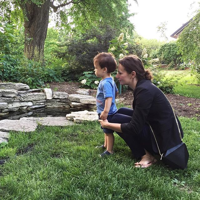 End of the work day fun with my little guy ☺️ no you can't jump in that pond right now little one #work #play #love #nature #familyiseverything #design #chicagosummer #chicago #thegreatoutdoors #architect #designer