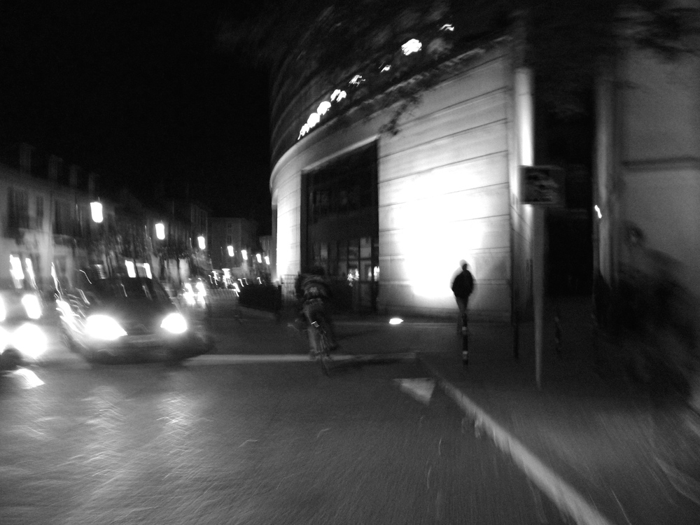 Taking a photo while biking