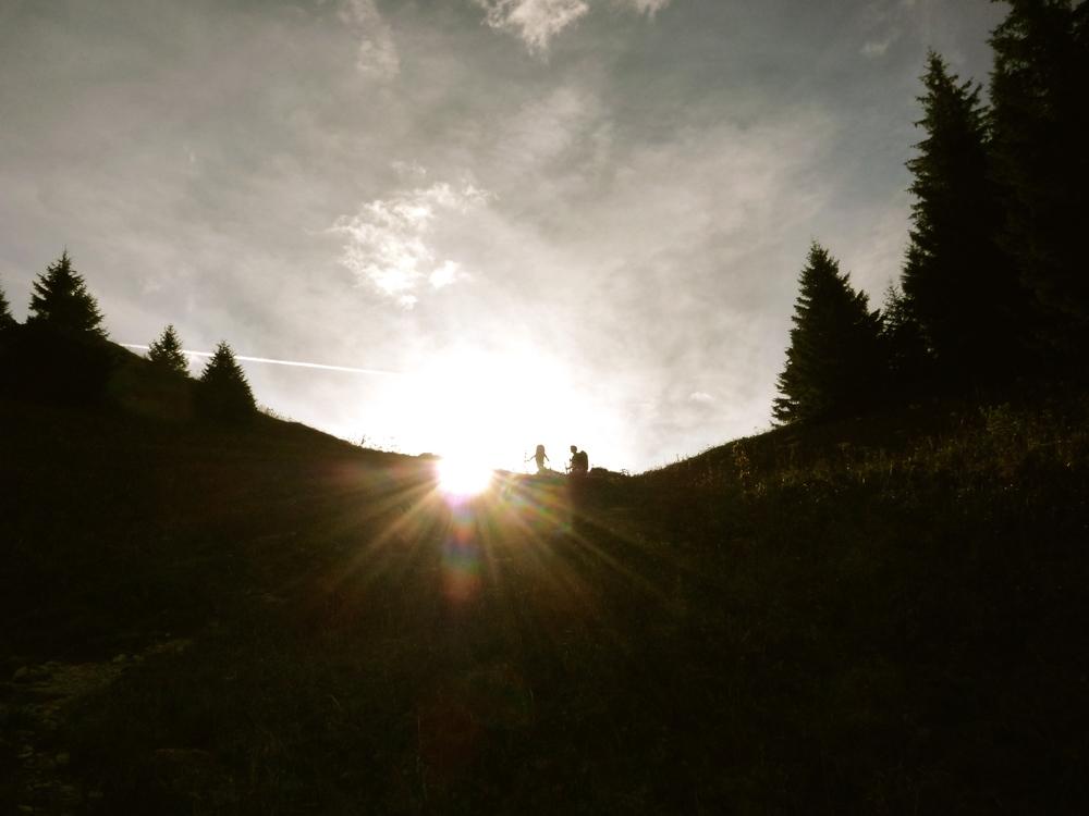 Nearing the Col de l'Alpette