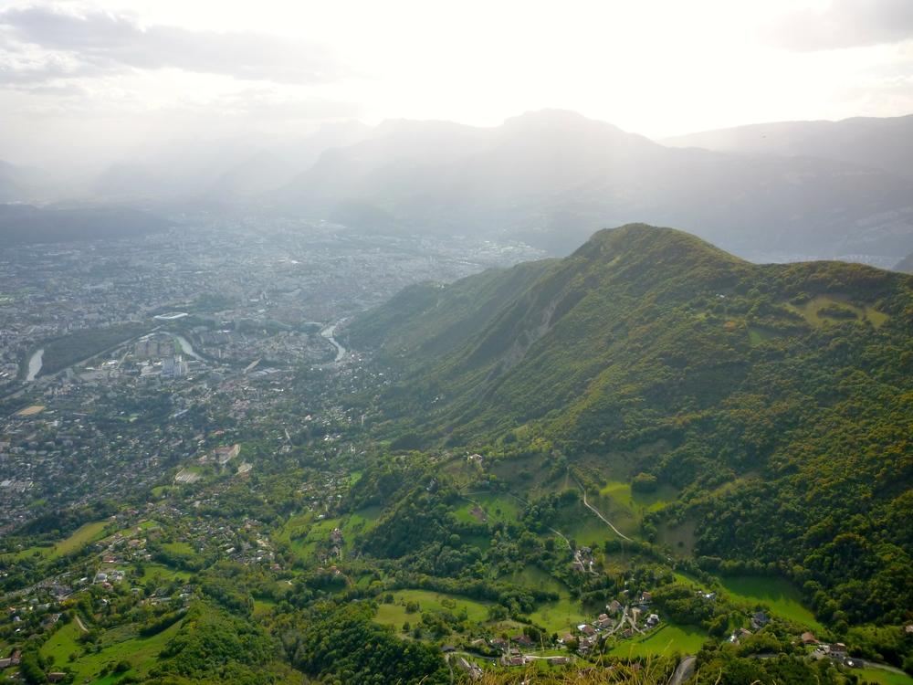Grenoble from the Fort du Saint-Eynard