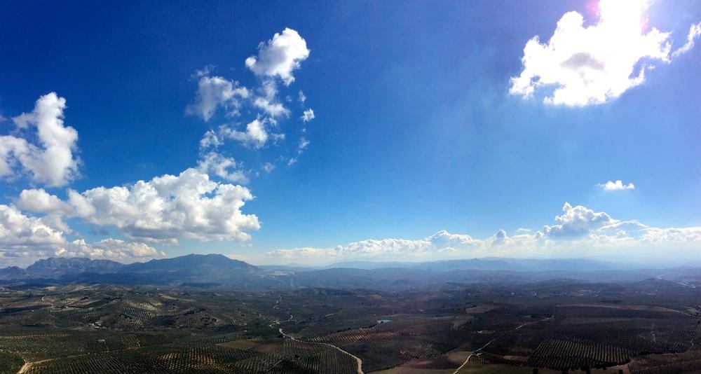 Panorama from the Sierra de Aras
