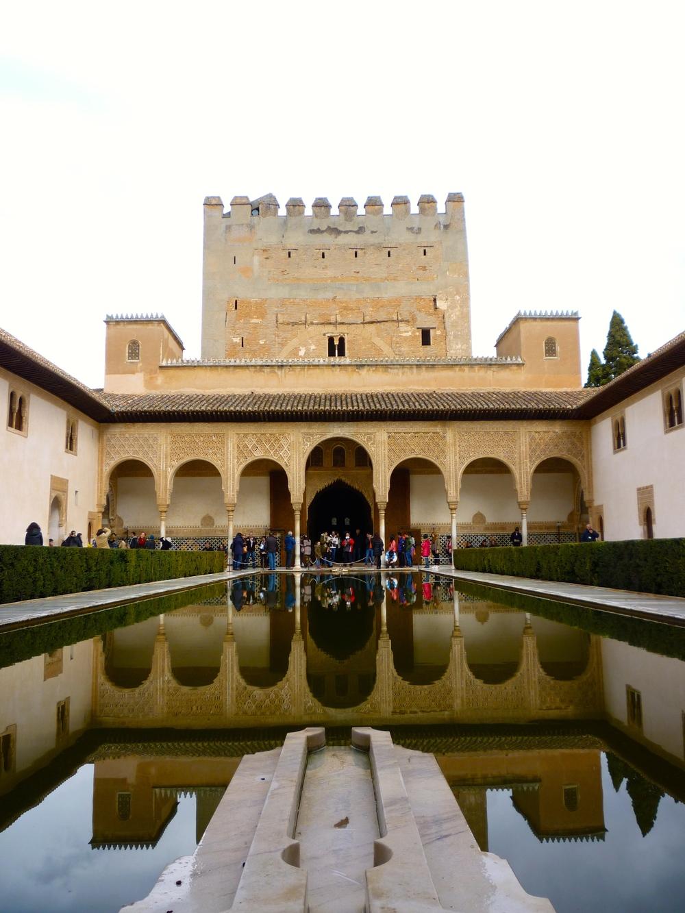 Inside the Moorish palace