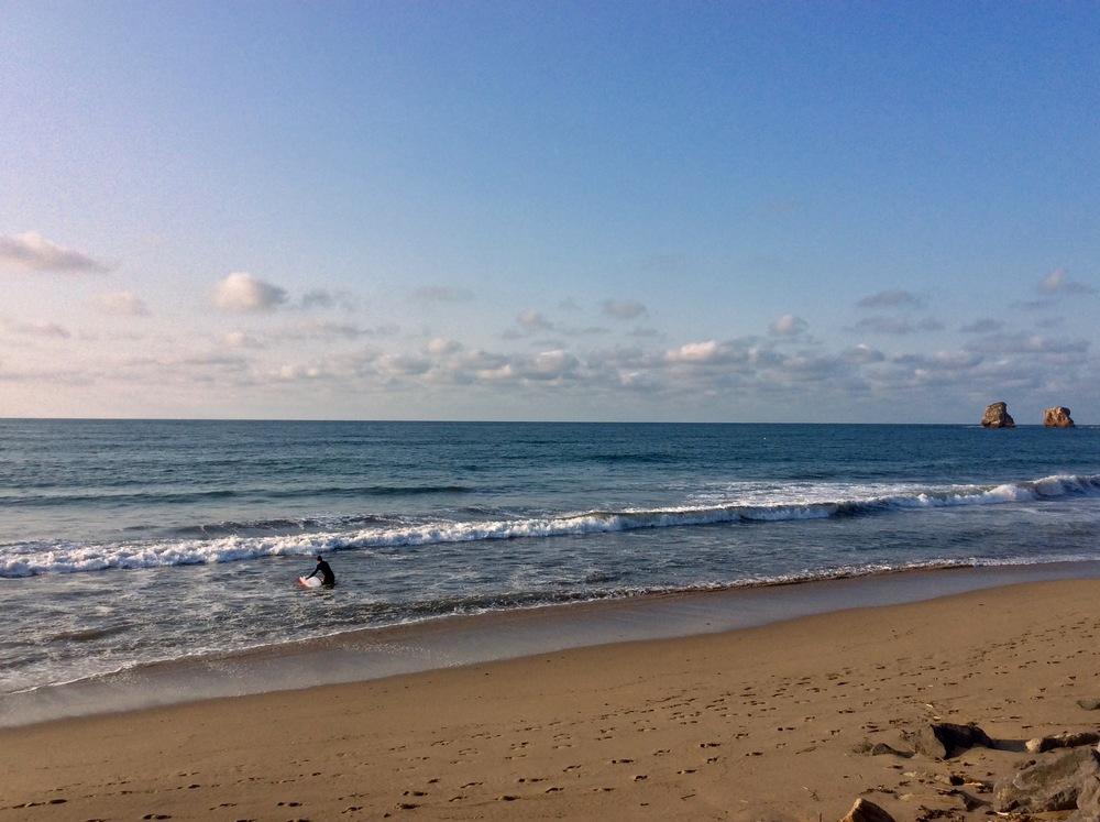 The beach at Hendaye