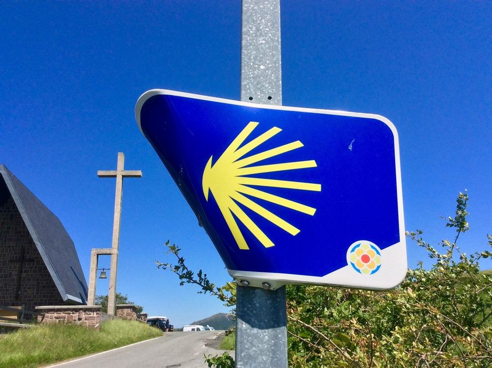 Crossing the Camino de Santiago