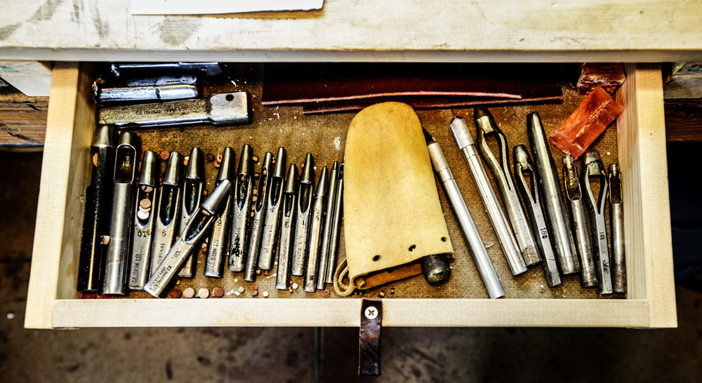 soft saddle tools in a drawer
