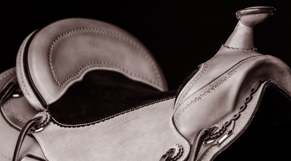 custom soft saddle rough out leather Bill Huston