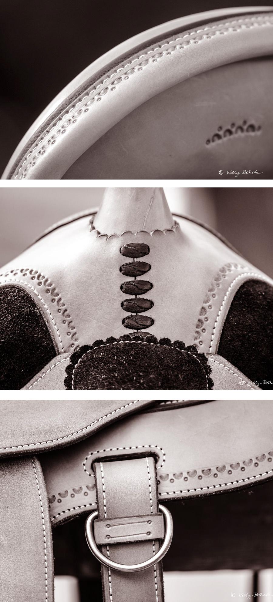 custom soft saddle details Bill Huston