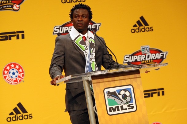 Michael Tetteh at MLS Draft