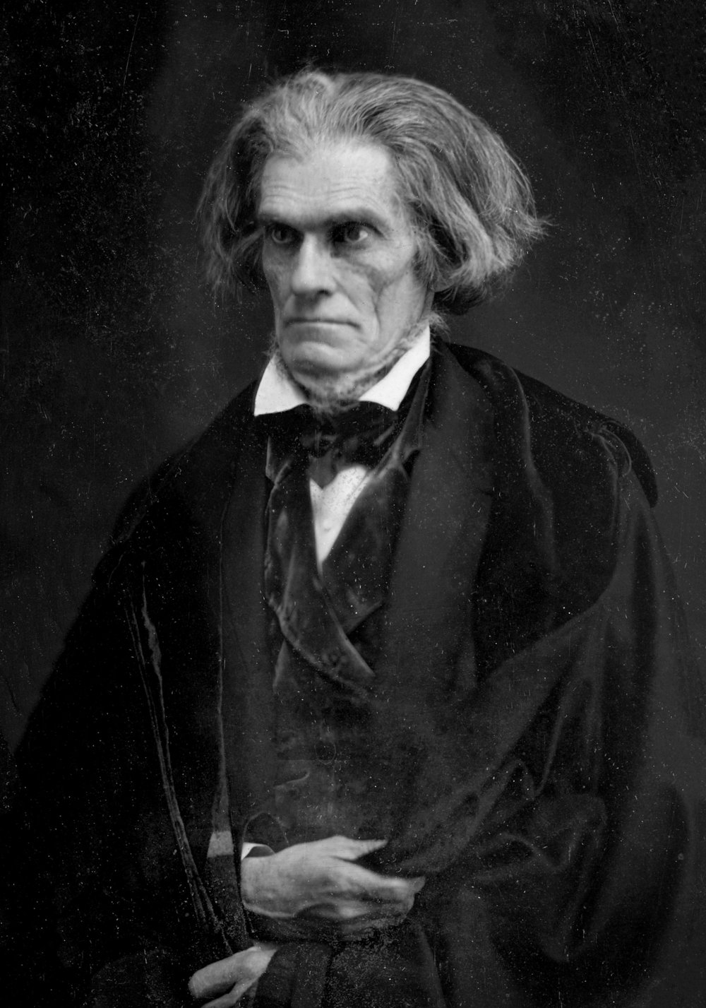 John C. Calhoun, photographed by Mathew Brady (1849). Source:  Wikimedia Commons