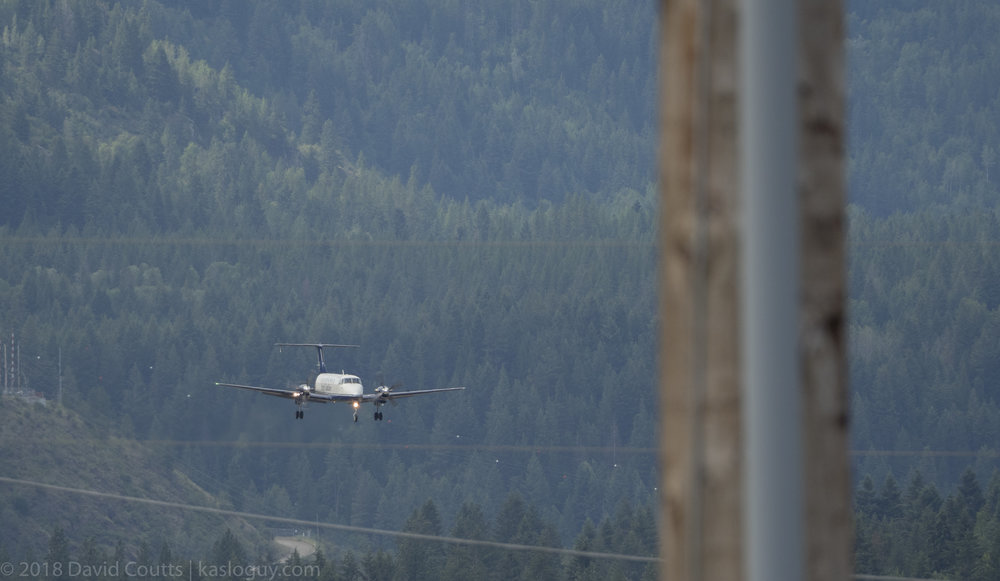Beech 1900 On Final, Trail Airport, BC
