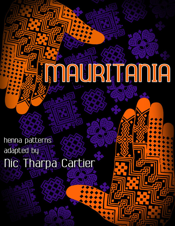Mauritania - henna patterns adapted by Nic Tharpa Cartier