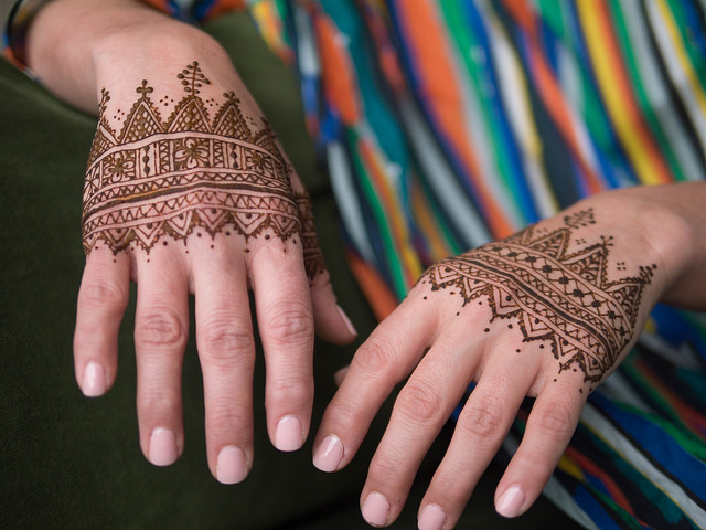 Moroccan Henna Class - In this half hour class you'll learn the basics of drawing Moroccan henna designs, famous for their gorgeously complex geometry and bold style. While the Henna Drawing class is not a prerequisite, it will help if you know the basics of how to use a henna cone to draw.Book this class now