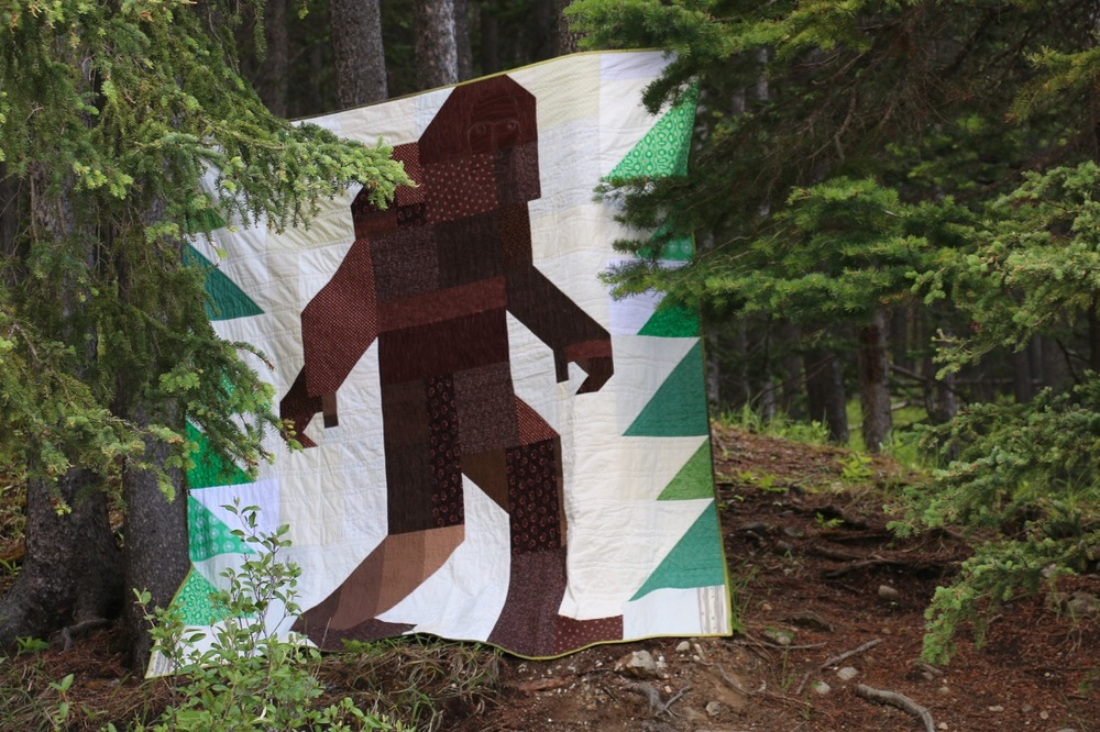 Bigfoot in the Wild - Quilt