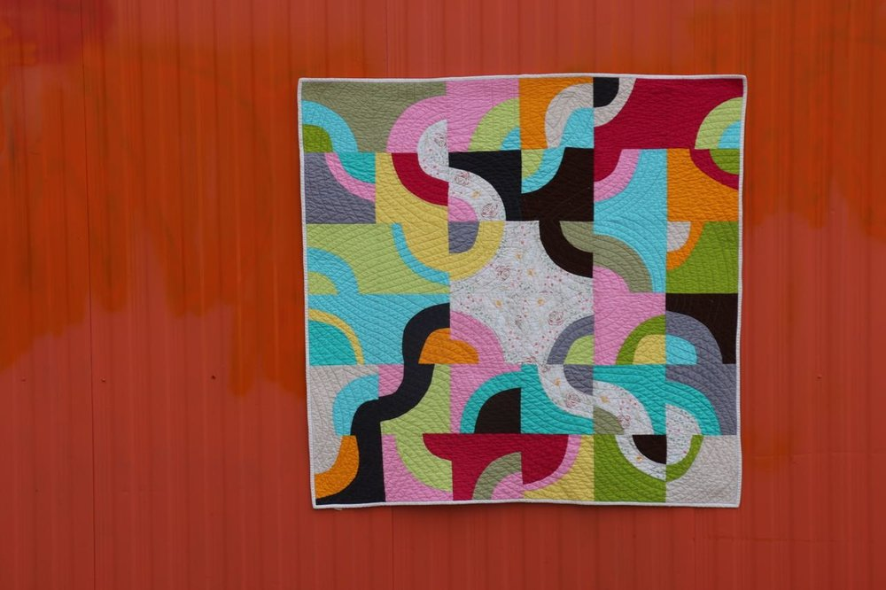 Improvisational Curves Make a Quilt