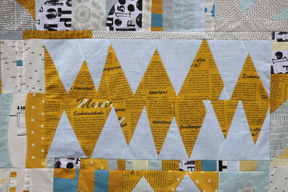 Improvisational Quilt Piecing - Triangles