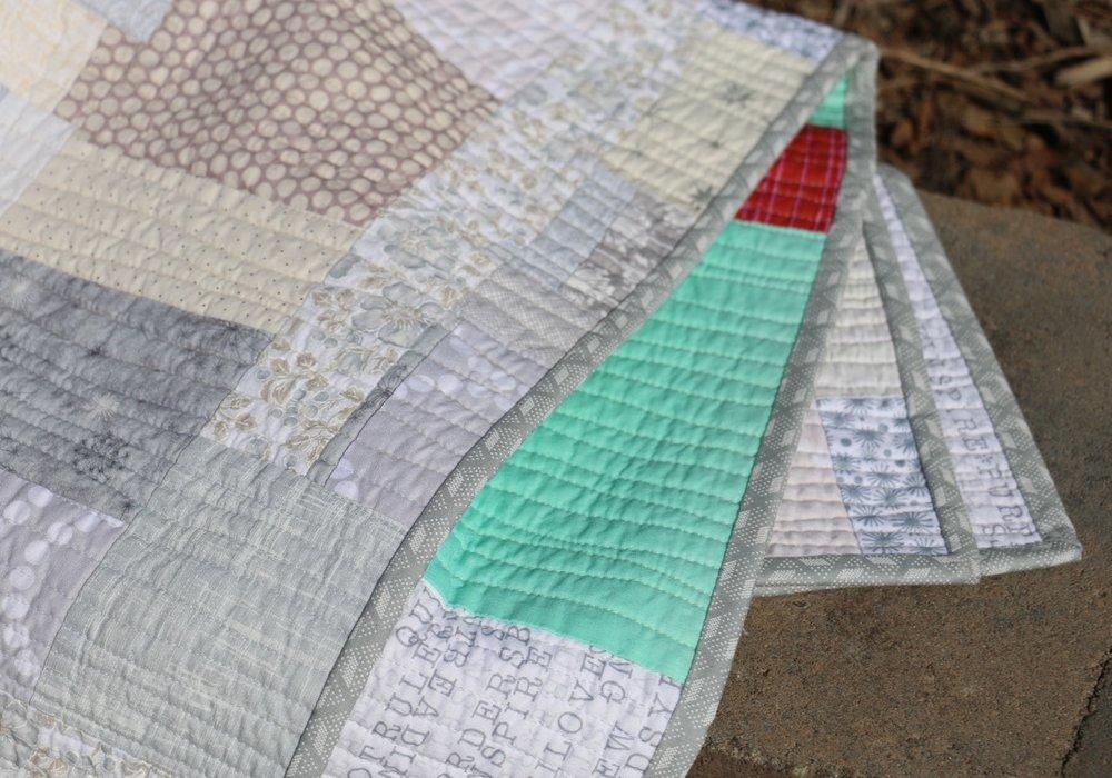 Modern Improv Quilt Detail