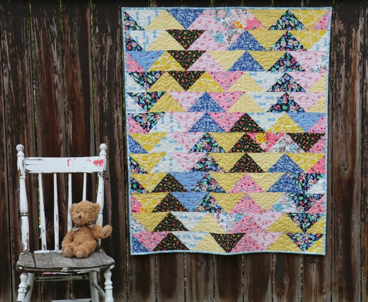 Great Grandmother's Geese - Modern Quilt from Vintage Fabrics ... : modern quilting fabrics - Adamdwight.com