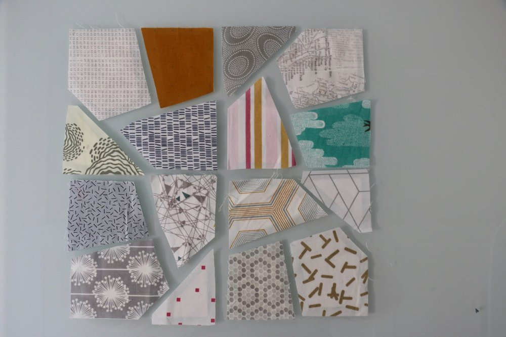 English paper Piecing Prep for Euroa Quilt
