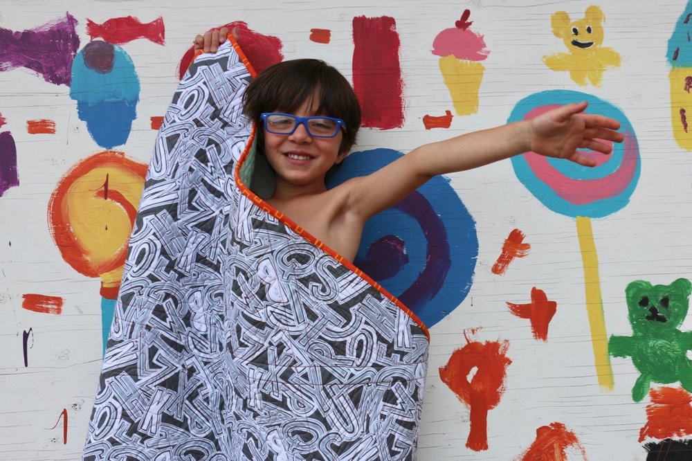 Tag Fabric and Sewing With Kids, Quilts