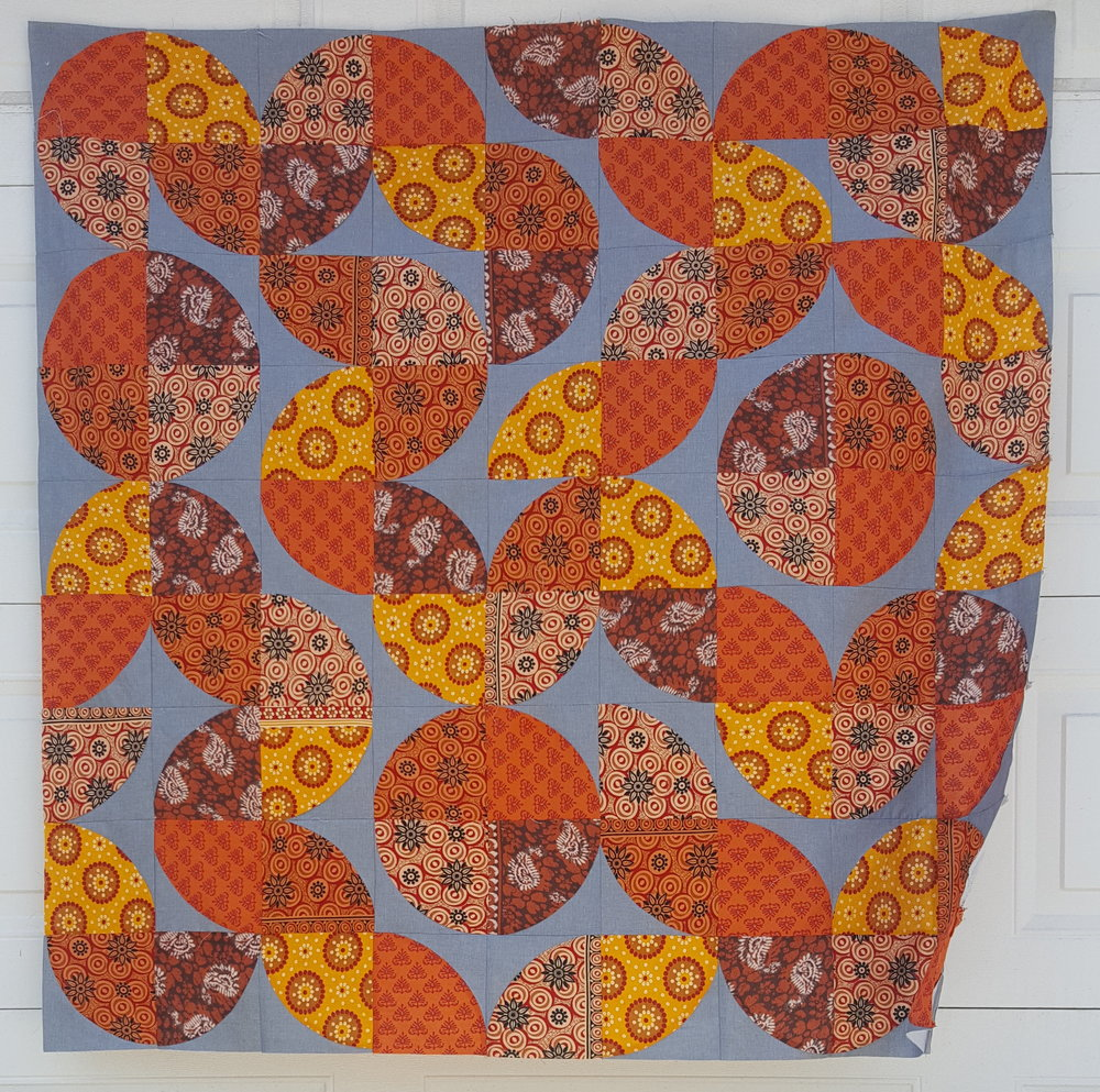 Improv Piecing from Curved Quilt Blocks