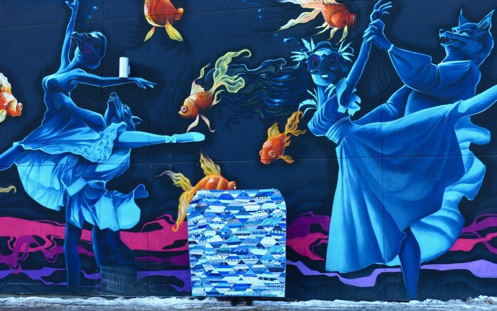 Blue Quilt Calgary Murals Instagram Worthy