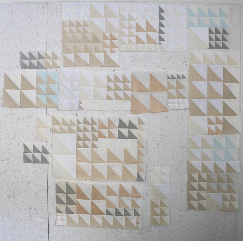 Names for Snow Quilt Improv quilting