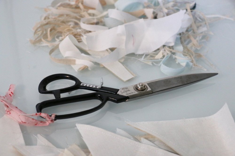Scissors Quilt Improvisational Piecing