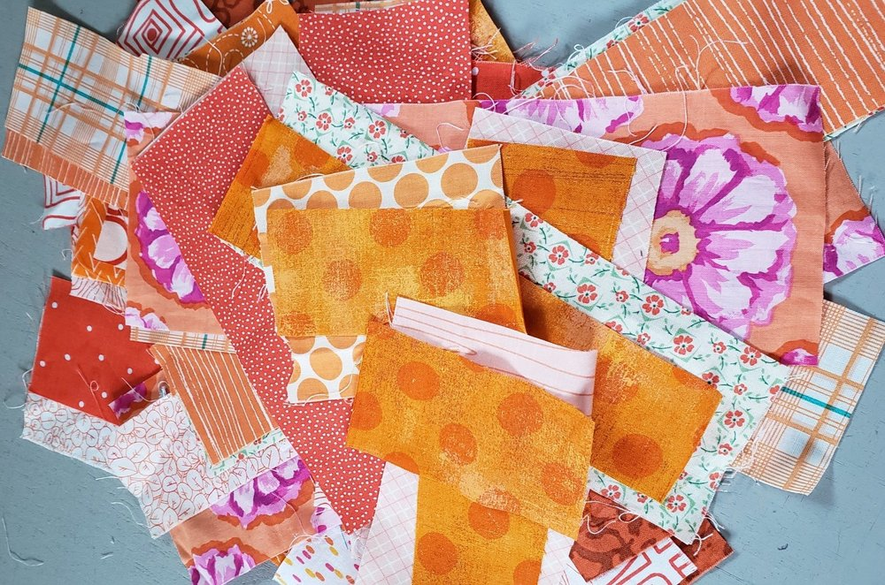 Orange Scraps of Fabric